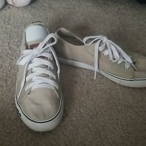 Ralph Lauren Khaki Polo Tennis Shoes